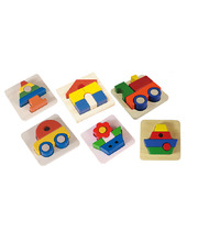 Blue Ribbon Chunky 3D Tray Puzzle - Set of 6