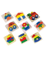 Blue Ribbon Chunky 3D Tray Puzzle - Set of 9