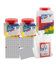 Quercetti Pegs & Peg Board - Class Set (Approx. 6,630pcs)