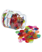 Magnetic Translucent Counting Chips Tub - 500pcs