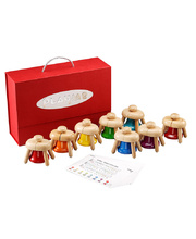 PlayMe Wooden Pat Bells - Set of 8