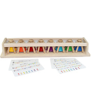 PlayMe Wooden Pat Bells - Set of 8 Plus Display Stand