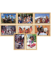 Children Of The World Puzzles - Set of 8