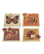 Indigenous Art Insect Puzzles - Set of 4 (With Free Poster Kit)
