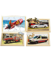 Emergency Services Puzzle - Set of 4