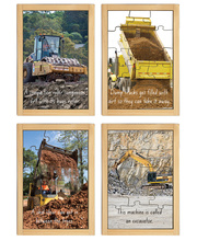 Diggers & Dozers Story Book Puzzles - Set of 4