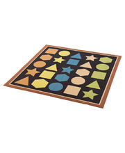 Natural Seating Carpet Mat - Square With Shapes 2 x 2m