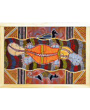Aboriginal Art Style Puzzle - How The Platypus Was Born 18pcs
