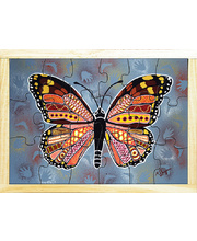 Aboriginal Art Style Puzzle - How The Butterfly Was Born 18pcs