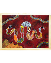 Aboriginal Art Style Puzzle - The Rainbow Serpent 18pcs