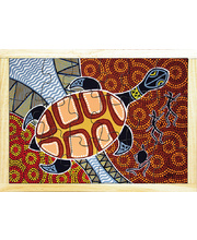 Aboriginal Art Style Puzzle - Wayamba The Turtle 18pcs