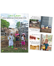 Big Book - Let's Learn about where our food comes from