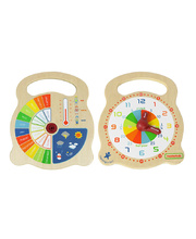 Masterkidz Wooden Teaching Clock