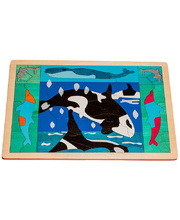 Fox Layered Puzzles - Orcas & Dolphins 73pcs