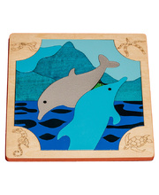 Fox Layered Puzzles - Dolphins 24pcs