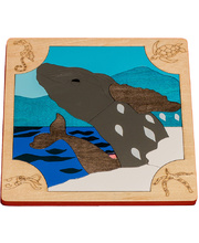 Fox Layered Puzzles - Whales 22pcs
