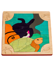 Fox Layered Puzzles - Turtles 25pcs