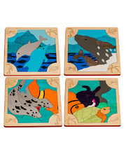 *Fox Layered Puzzles - Sea Animals Set of 4