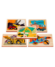 Fox Layered Puzzles - Construction Series Set of 5
