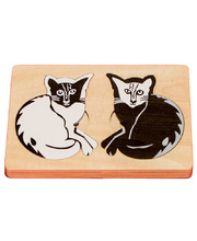 Fox Layered Puzzles - Opposite Cats 12pcs