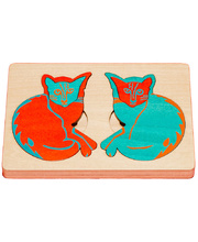 Fox Layered Puzzles - Coloured Cats 12pcs