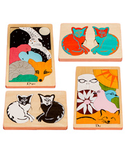 *Fox Layered Puzzles - Early Learning Series Set of 4