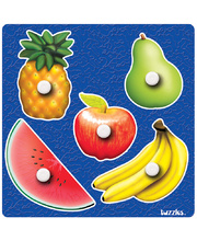 Tuzzles Giant Easy Grip Peg Puzzle - Fruit 5pcs