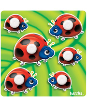Tuzzles Giant Easy Grip Peg Puzzle - Ladybirds 6pcs