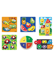 Tuzzles Giant Easy Grip Peg Puzzles - Set of 6