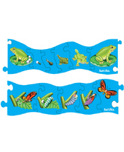 Tuzzles Frog & Butterfly Sequence Puzzle - Set of 2