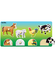 Tuzzles Matching Peg Puzzles - Farm Animals 8pcs