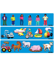 Tuzzles Raised Puzzles - Family, Transport & Farm