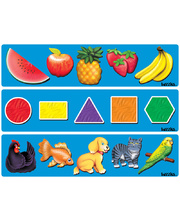 Tuzzles Raised Puzzles - Fruit, Shapes & Pets