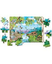 Tuzzles Australian Environmental Change Tray Puzzle - 24pcs