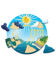 Tuzzles Life Cycle Raised Puzzle - Water Cycle 12pcs