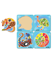 Tuzzles Aboriginal Art Knob One Piece Puzzles - Set of 4