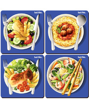 Tuzzles International Food Plates Raised Puzzles - Set of 4