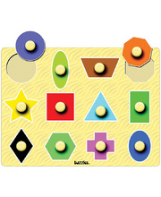 Tuzzles Giant Peg Puzzle - Shapes 12pcs