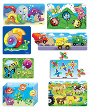 Tuzzles Knob & Peg Puzzles - Set of 8