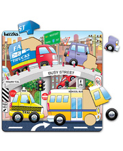 "Tuzzles Raised ""Busy"" Puzzle - Street 21pcs"