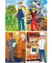 Tuzzles Multicultural Occupations Puzzles - Group 3 Set of 4