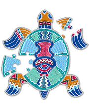 Tuzzles Aboriginal Art Floor Puzzle - Turtle 22pcs