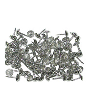 Tap Tap Nails Long Silver - 100pcs