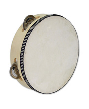 Wooden Tambourine 20cm - with Skin