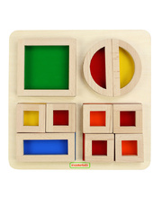 Masterkidz Rainbow Block & Fraction Set - 11pcs