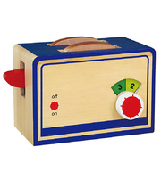 *Timber Toaster with Toast - 22.5 x 13.5 x 11cmH