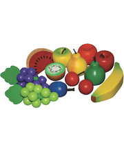 Santoys Wooden Timber Fruit - 13pce