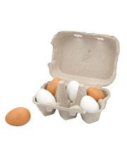 Wooden Eggs - 6pcs