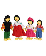 Bendable Doll Families - Asian Set of 4
