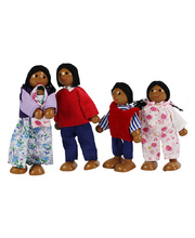 Bendable Doll Families - African Set of 4